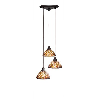 Europa 3-Light Pendant Shade Color: Persian Nites