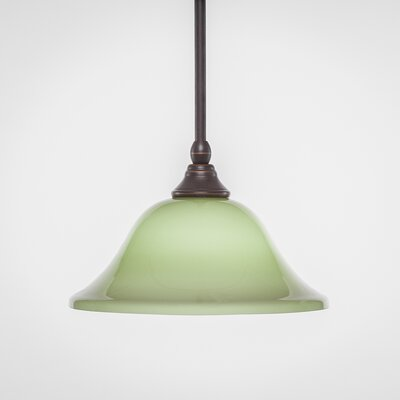 Stem 1-Light Mini Pendant Shade Color: Olive