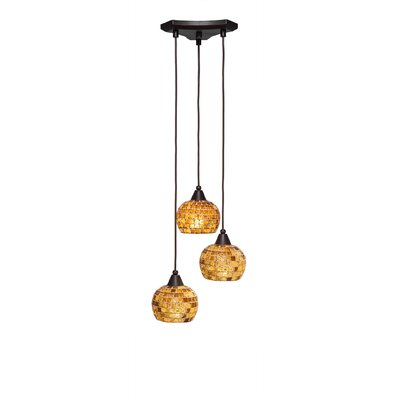 Europa 3-Light Pendant Shade Color: Copper