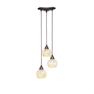 Europa 3-Light Pendant Shade Color: Mystic