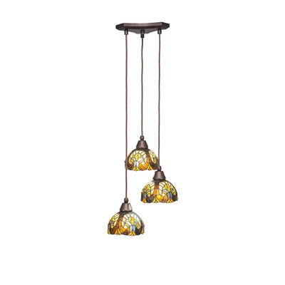 Europa 3-Light Pendant Shade Color: Ivory