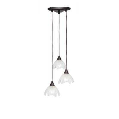 Europa 3-Light Pendant Shade Color: Gold