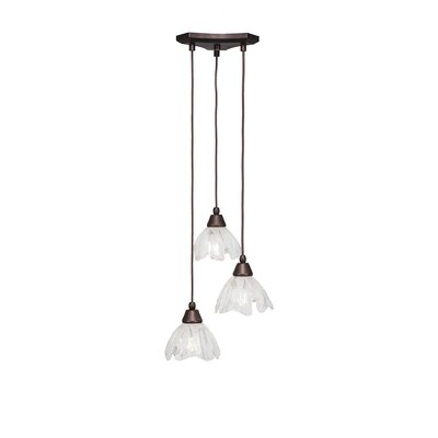 Europa 3-Light Pendant Shade Color: Italian