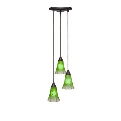 Europa 3-Light Pendant Shade Color: Kiwi Green