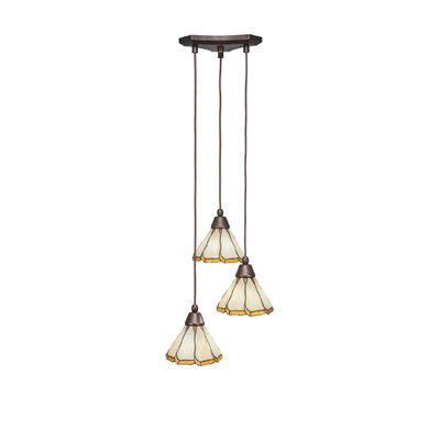 Europa 3-Light Pendant Shade Color: Honey & Brown