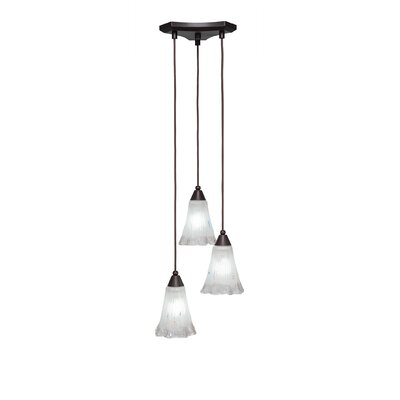Europa 3-Light Pendant Shade Color: Frosted