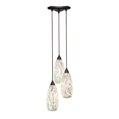 Europa 3-Light Pendant Shade Color: Natural