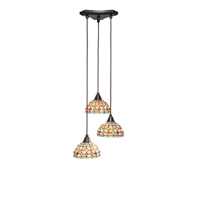 Europa 3-Light Pendant Shade Color: Rosetta