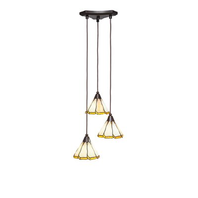 Europa 3-Light Pendant Shade Color: Honey and Brown
