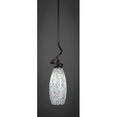 Capri Stem 1-Light Mini Pendant Shade Color: Black