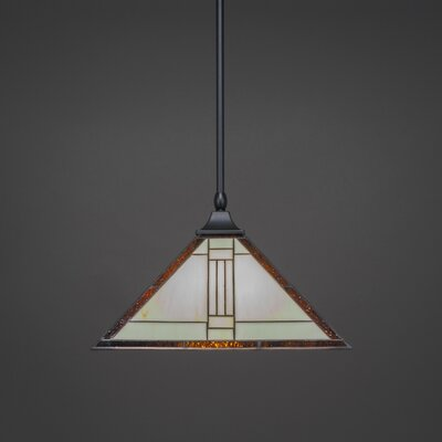 1-Light Mini Pendant Base Finish: Matte Black