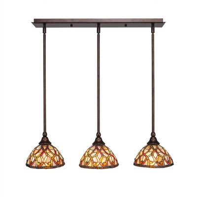 Any 3-Light Kitchen Island Pendant Finish: Bronze