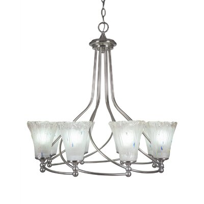 Capri 8-Light Shaded Chandelier Shade Color: Fluted Frosted