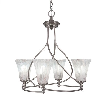 Capri 4-Light Shaded Chandelier Shade Color: Fluted Italian Ice