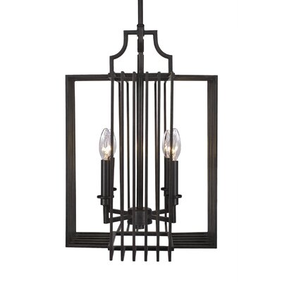 Sky Loft 4-Light Foyer Pendant Finish: Dark Granite, Size: 21 H x 14.21 W x 14.21 D