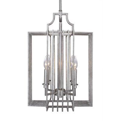 Sky Loft 4-Light Foyer Pendant Finish: Aged Silver, Size: 25 H x 16.25 W x 16.25 D