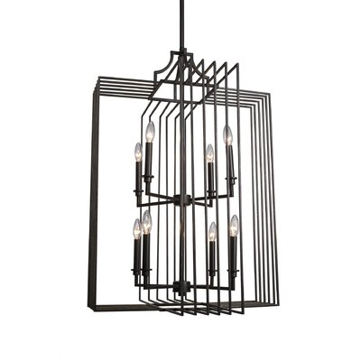 Sky Loft 8-Loft Foyer Pendant Finish: Dark Granite