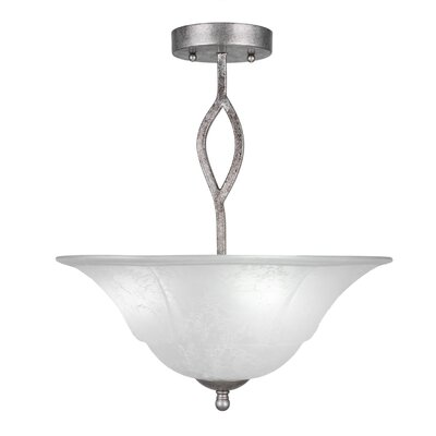Revo 3-Light Semi-Flush Mount Finish: Aged Silver