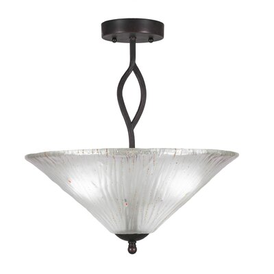 Revo 3-Light Semi-Flush Mount Shade Color: Frosted