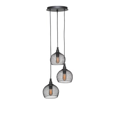 Plexus 3-Light Mini Pendant Finish: Matte Black