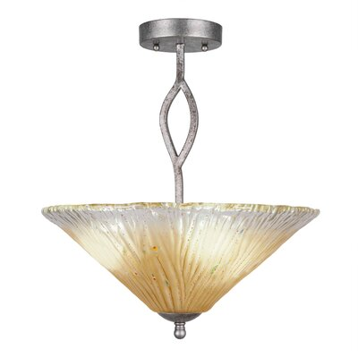 Revo Semi Flush Mount Shade Color: Amber