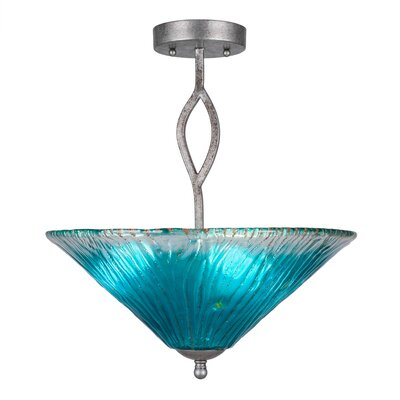 Revo Semi Flush Mount Shade Color: Teal