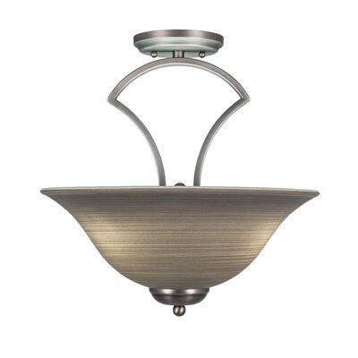 Zilo 3-Light Semi-Flush Mount