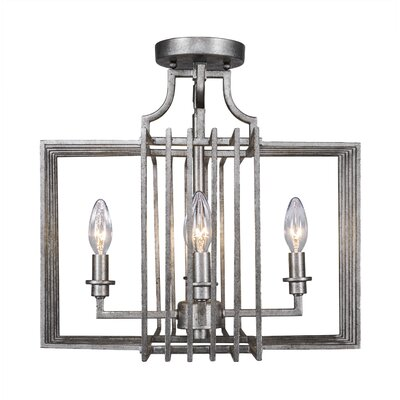 Sky Loft 4-Light Semi Flush Mount Finish: Aged Silver