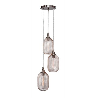 Plexus 3-Light Cascade Pendant Finish: Brushed Nickel