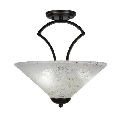 Zilo 3-Light Semi-Flush Mount Finish: Dark Granite