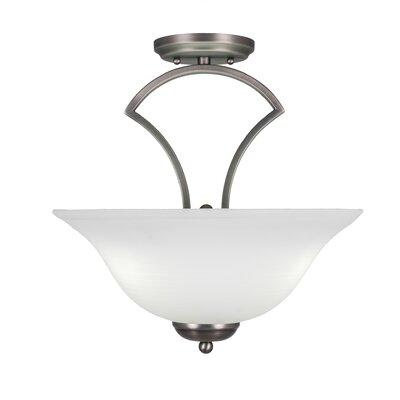 Zilo 3-Light Semi-Flush Mount Finish: Graphite
