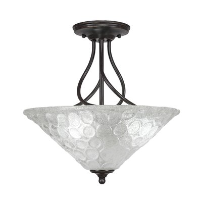 Capri 3-Light Semi-Flush Mount