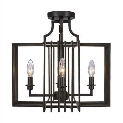 Sky Loft 4-Light Semi Flush Mount Finish: Dark Granite