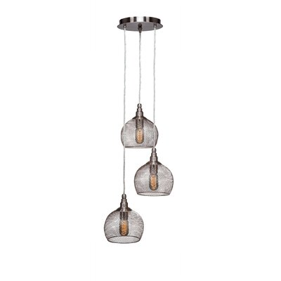 Plexus 3-Light Mini Pendant Finish: Brushed Nickel