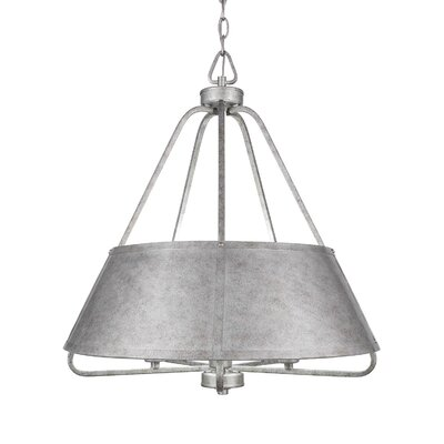 Sonora 5-Light Shaded Chandelier Finish: Aged Silver