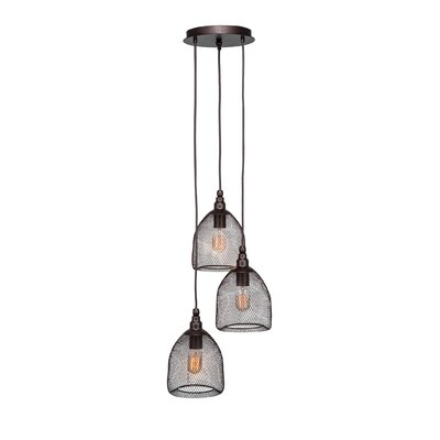 Plexus 3-Light Mini Pendant Finish: Bronze