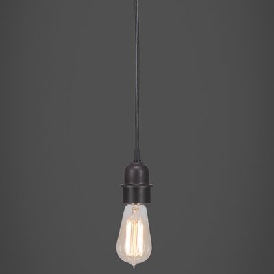 Kash 1-Light Mini Pendant Finish: Dark Granite