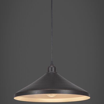 Vintage 1-Light Mini Pendant Finish: Dark Granite
