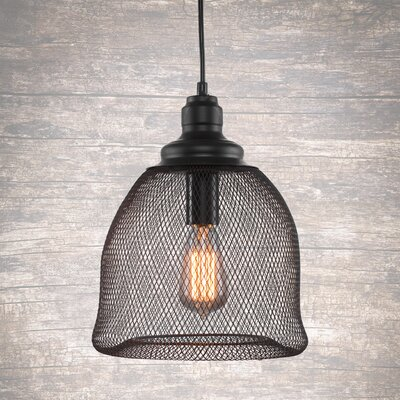 Plexus 1-Light Mini Pendant Finish: Matte Black