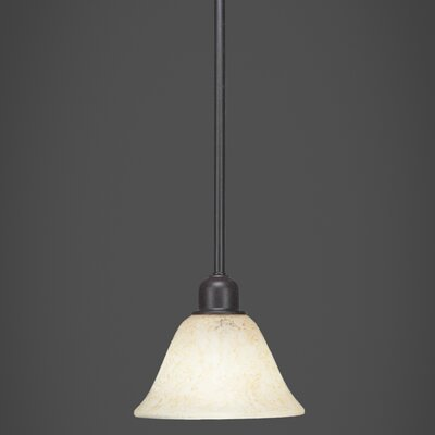 Kash 1-Light Dark Granite Mini Pendant
