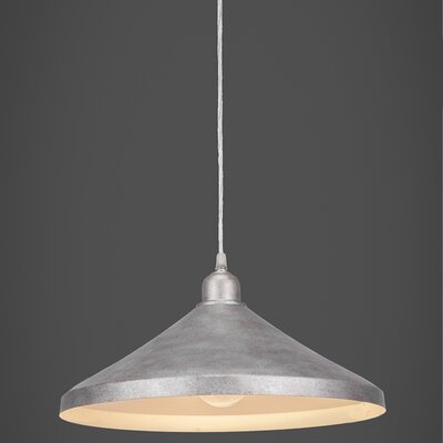 Kash 1-Light Silver Mini Pendant Finish: Aged Silver