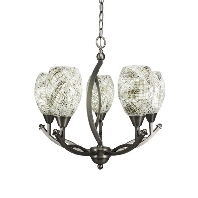 Bow 5-Light Shaded Chandelier Finish: Bronze