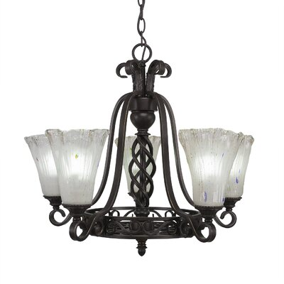 Elegant� 5-Light Shaded Chandelier Shade Color: Frosted