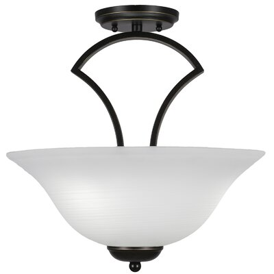 Zilo 3-Light Semi-Flush Mount Finish: Dark Granite