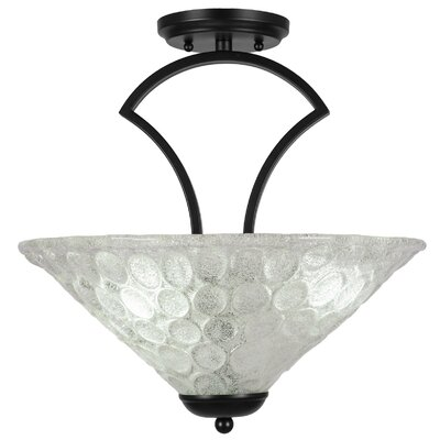Zilo 3-Light Semi-Flush Mount Finish: Matte Black