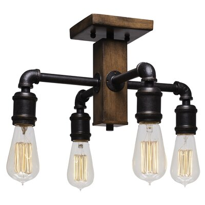 Davidson 4-Light Semi-Flush Mount