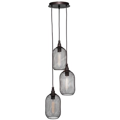 Plexus 3-Light Cascade Pendant Finish: Matte Black