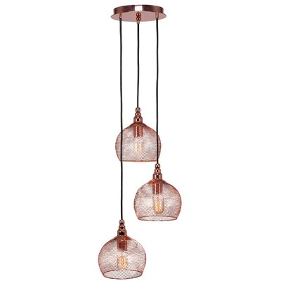 Plexus 3-Light Mini Pendant Finish: Copper