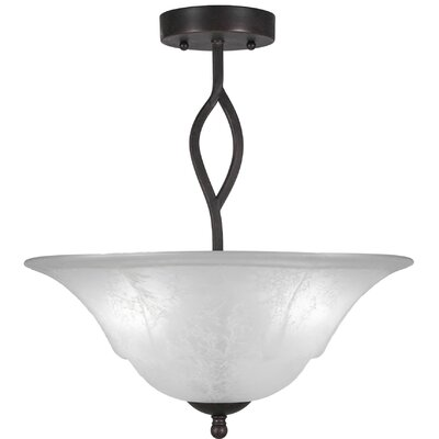 Revo 3-Light Semi-Flush Mount Finish: Dark Granite