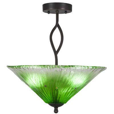 Revo 3-Light Semi-Flush Mount Shade Color: Kiwi